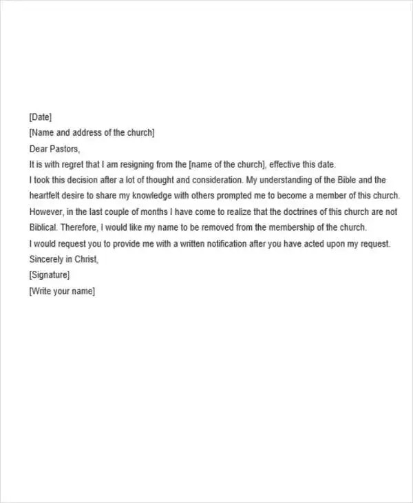 8+ Basic Resignation Letters - Free Sample, Example Format Download - basic resignation letter