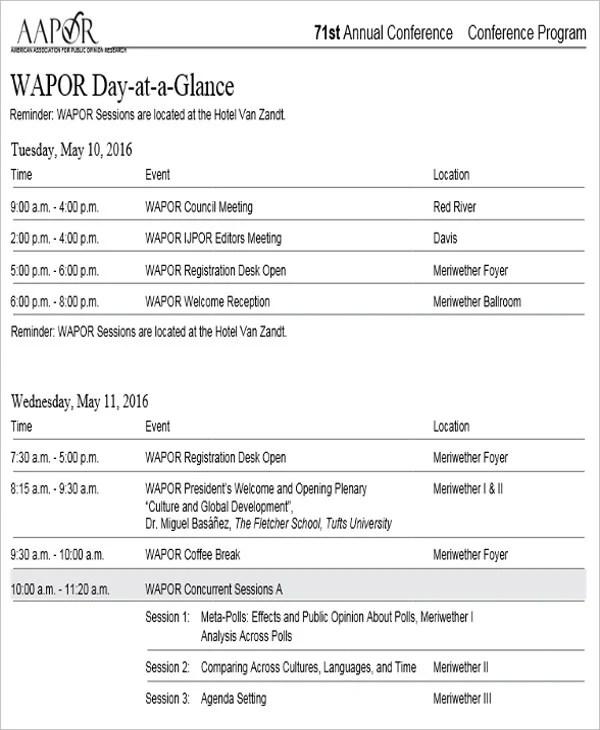 conference agenda design - Minimfagency
