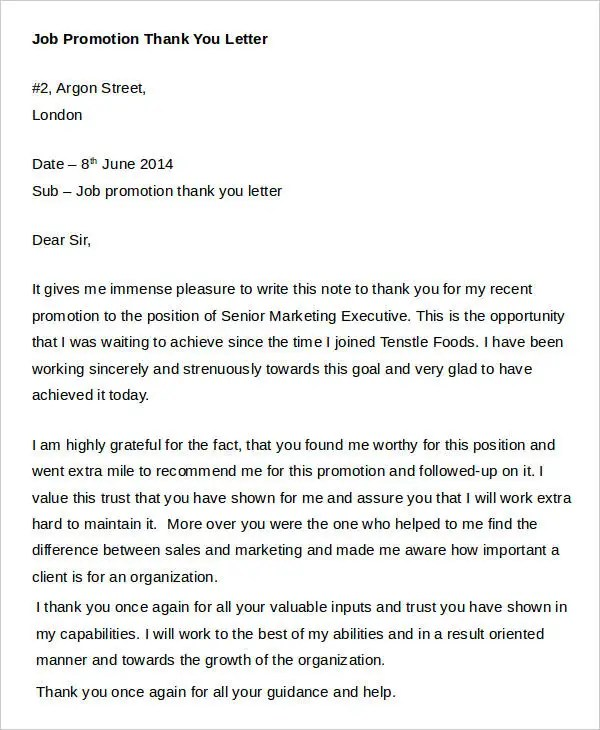 Sample Thank-You Letters - 60+ Free Word, PDF Documents Downloads