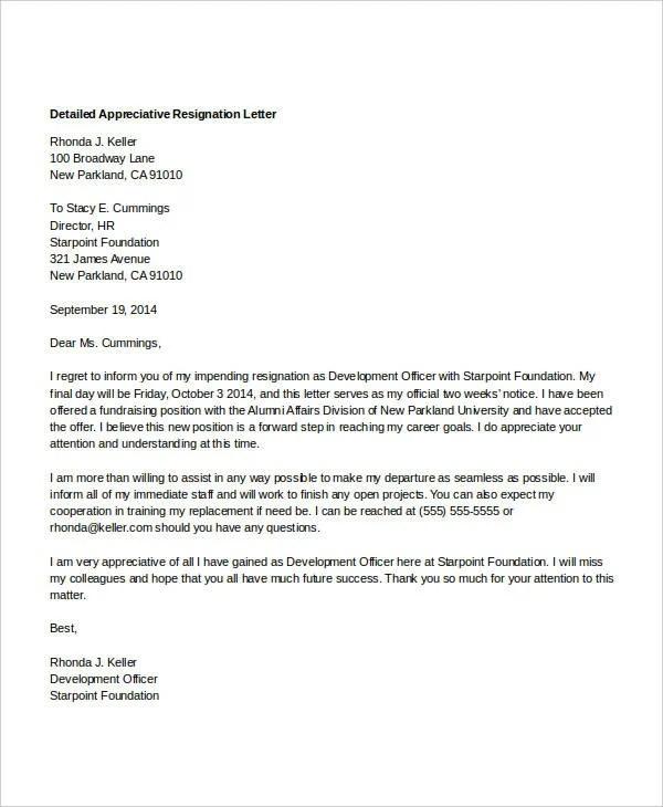 detailed resignation letter resignation letter format singapore