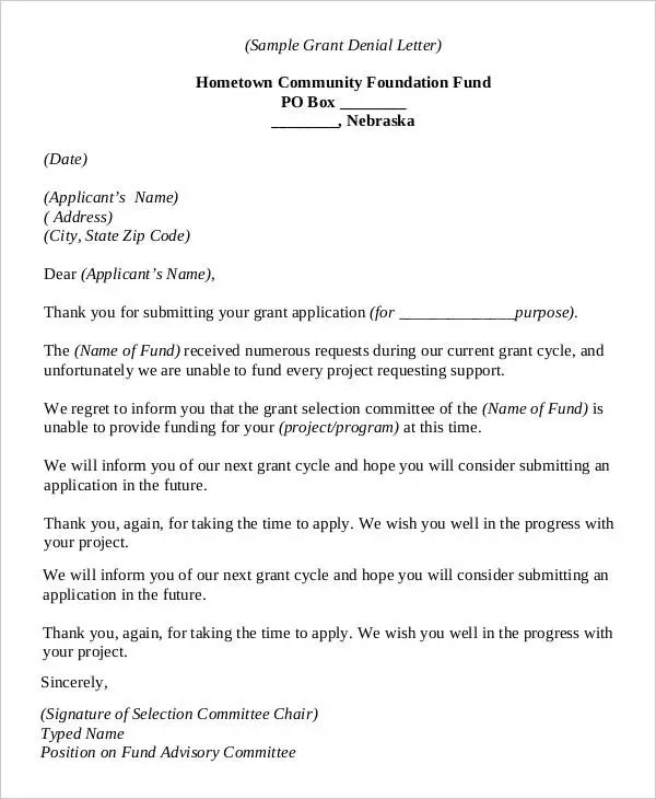 thank you letter for grant - Deanroutechoice