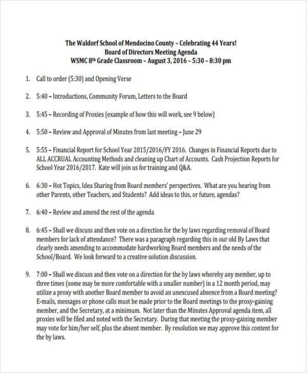 10+ Classroom Agenda Examples - Free Sample, Example Format Download - sample student agenda