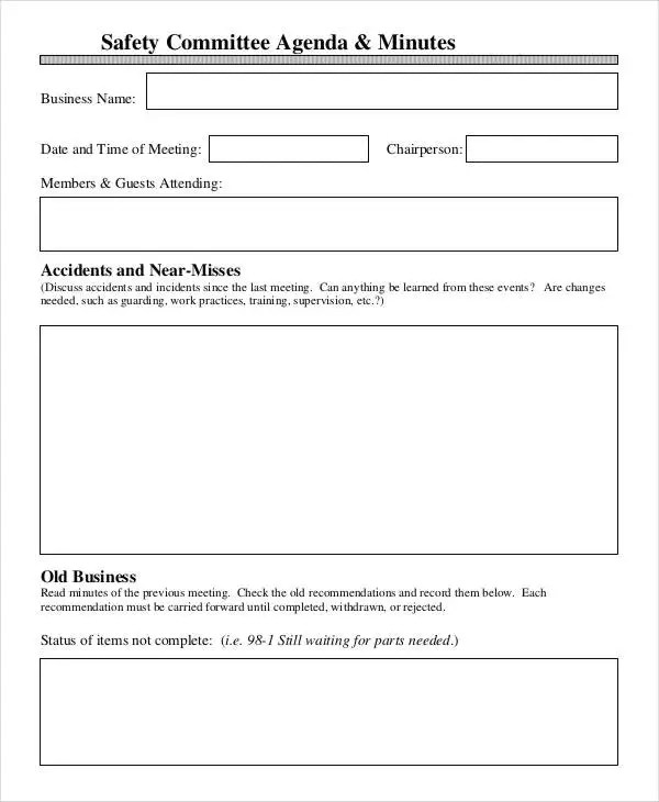 9+ Agenda Minutes Templates - Free Word, PDF Format Download Free - minutes agenda template