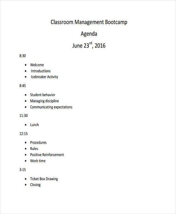 agenda online free