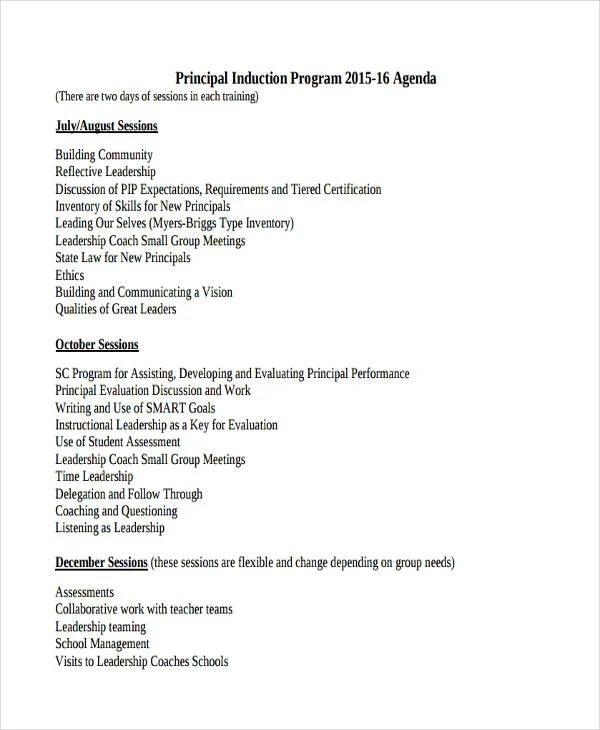 Sample Program Agenda Templates - 11+ Free Sample, Example Format - agenda writing
