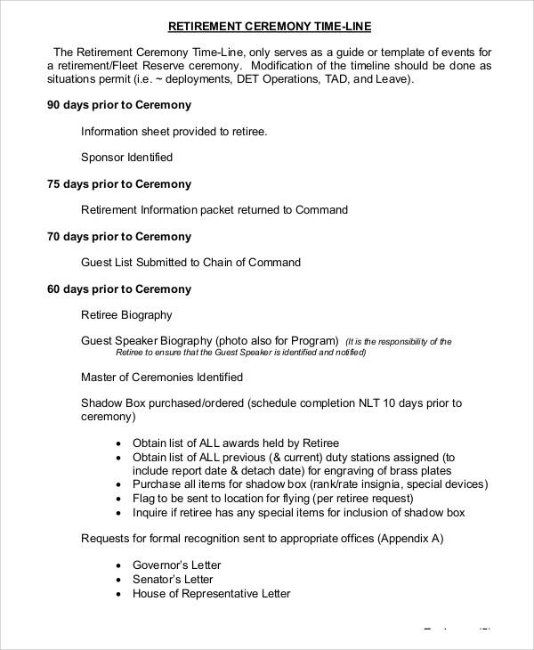 awards ceremony program template