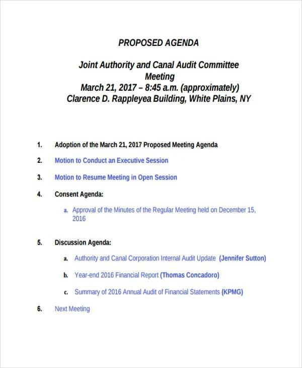 Audit Agenda Templates - 9+ Free Word, PDF Format Downlaod Free - audit template word