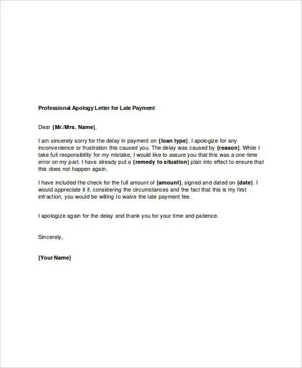 ... Professional Apology Letter   17+ Free Word, PDF Format Download   Apologize  Letter For ...