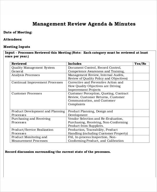 11+ Sample Review Agenda - Free Sample, Example Format Download