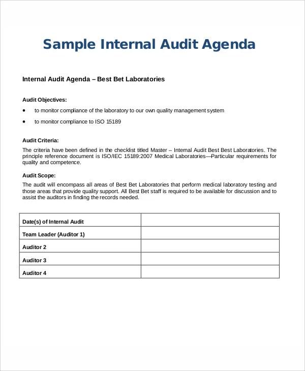 9+ Sample Audit Agenda - Free Sample, Example Format Downlaod Free
