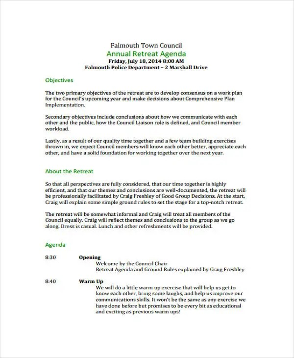 Amazing Simple Agenda Samples Gallery  Best Resume Examples And