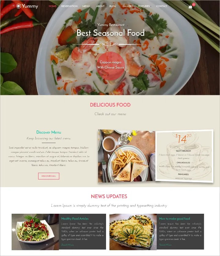 17+ Online Food Ordering  Delivery Website Templates Free