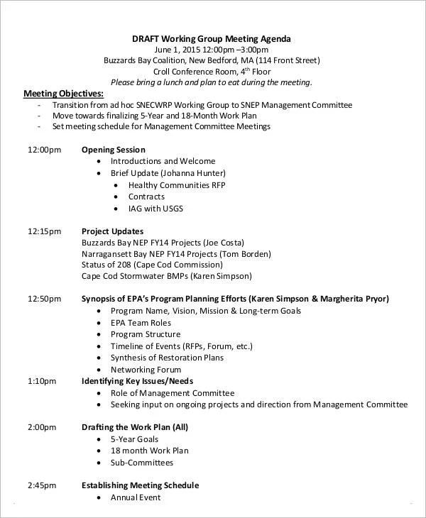 agenda draft template - Ozilalmanoof