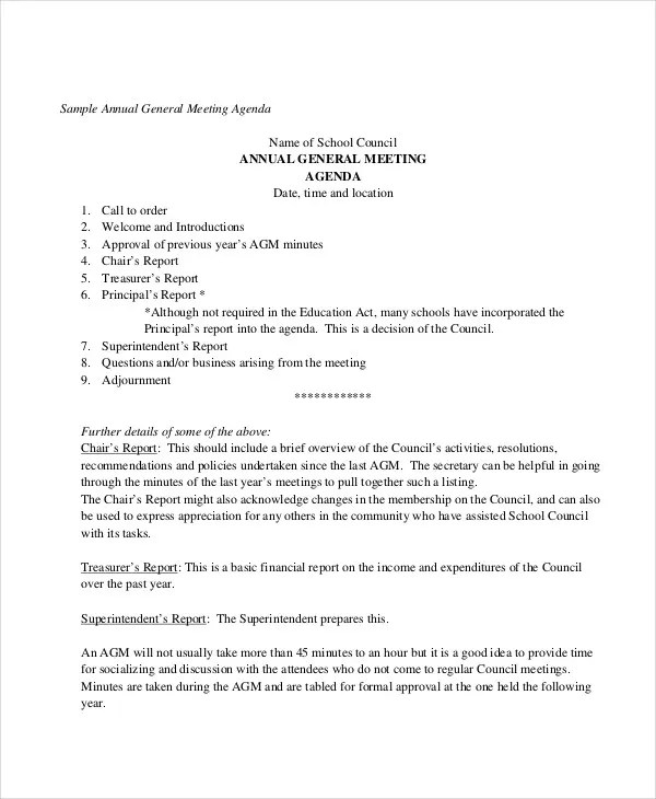 Annual Agenda Template - 10+ Free Word, PDF Format Download Free