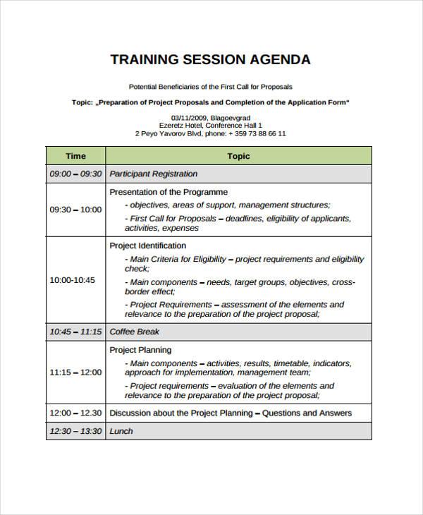 44+ Agenda Templates in PDF Free  Premium Templates - Training Agenda Template