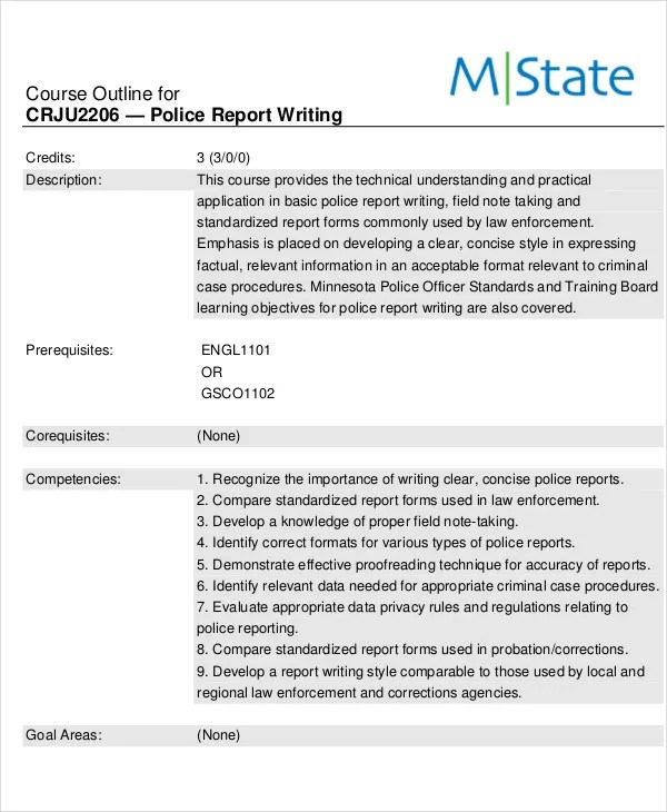 9+ Police Report Templates - Free Sample, Example Format Download
