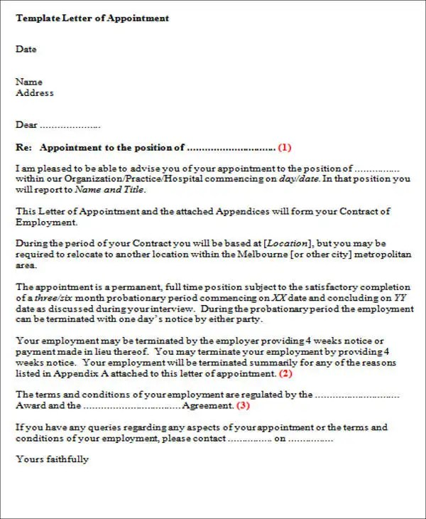 Contract Employee Offer Letter Format - Letter Idea 2018 - job agreement contract