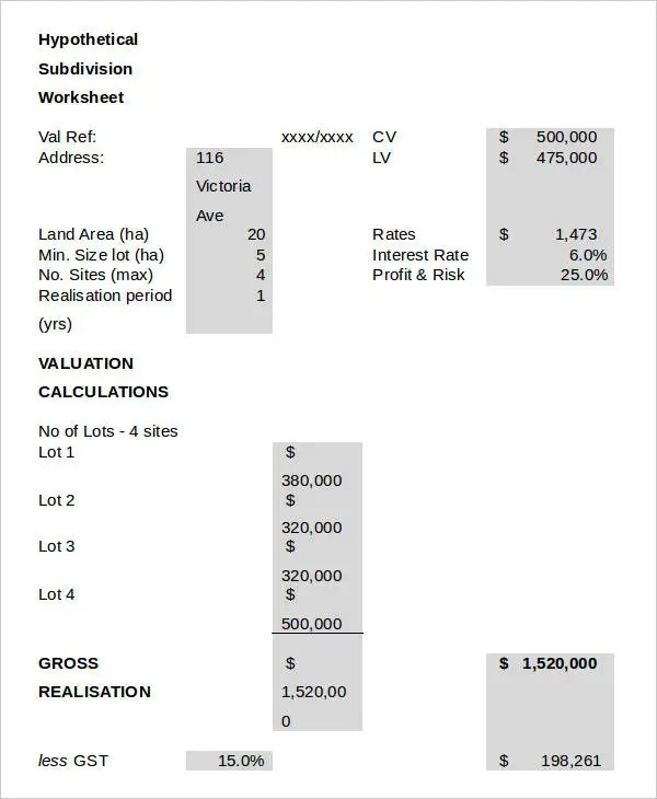 Valuation Reports - 12+ Free Sample, Example Format Download Free