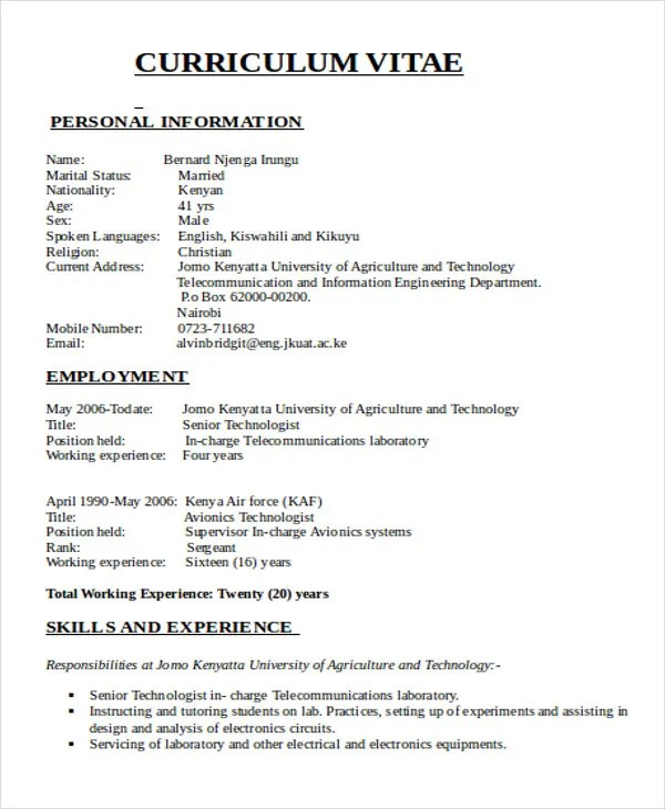 47+ Engineering Resume Samples - PDF, DOC Free  Premium Templates - electrical engineering resume sample