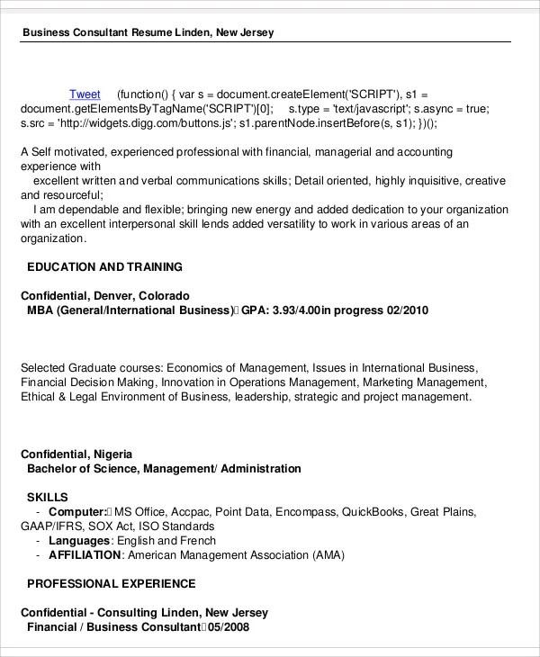 50+ Business Resume Templates - PDF, DOC Free  Premium Templates
