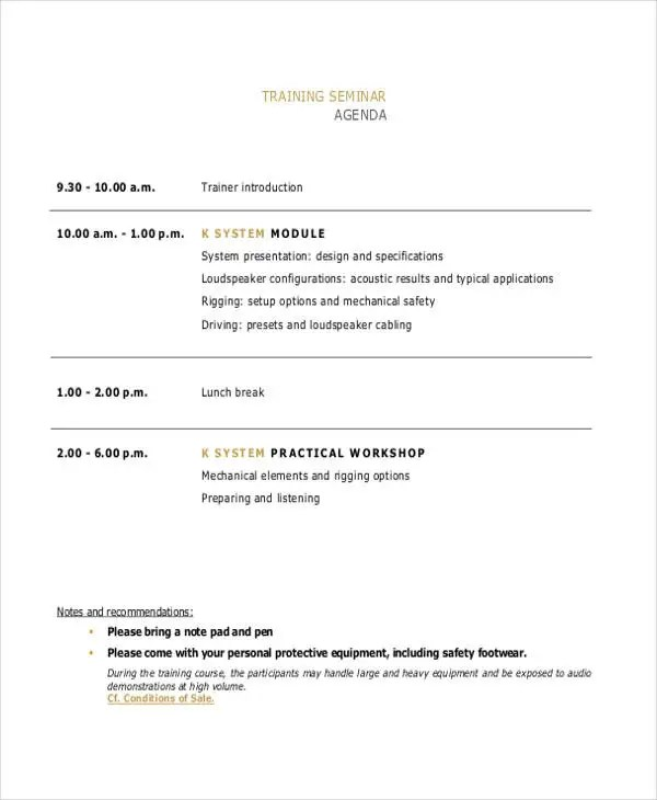 course agenda template - Josemulinohouse - training agenda template