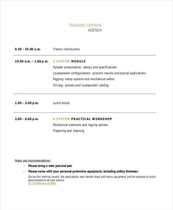 course agenda template - Josemulinohouse