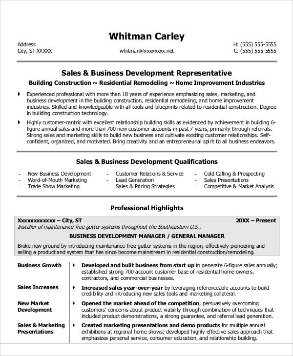 30+ Sales Resume Templates - PDF, DOC Free  Premium Templates - sales resume