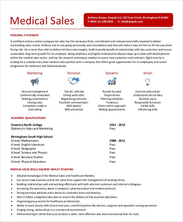 Medical Sales Resume Template \u2013 resume