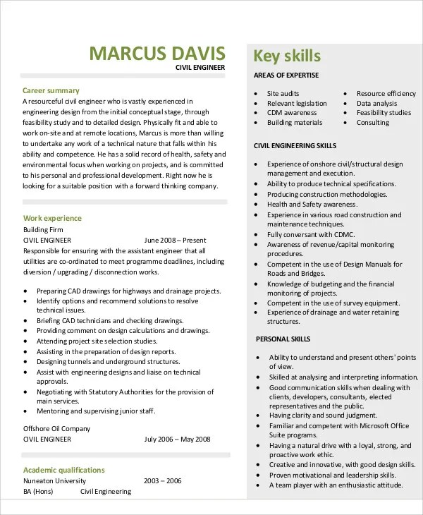 54+ Engineering Resume Templates Free  Premium Templates - good engineering resume
