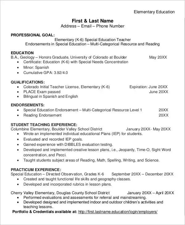 40+ Modern Teacher Resume Templates - PDF, DOC Free  Premium - Reading Teacher Resume
