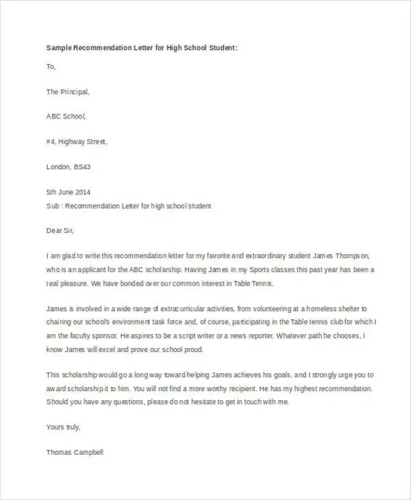 47+ Recommendation Letter Example Templates Free  Premium Templates