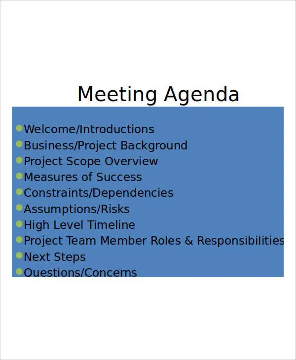 15+ Agenda Templates in PPT Free  Premium Templates - meeting agenda template powerpoint