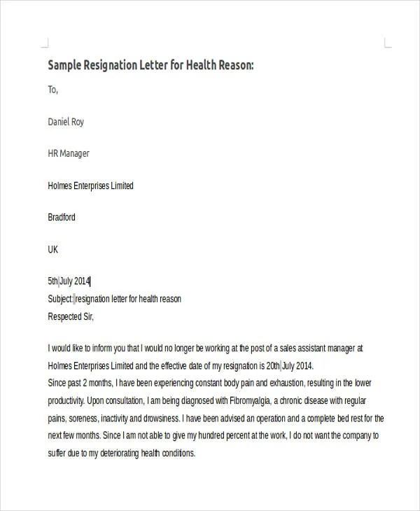 42+ Sample Resignation Letter Template Free  Premium Templates