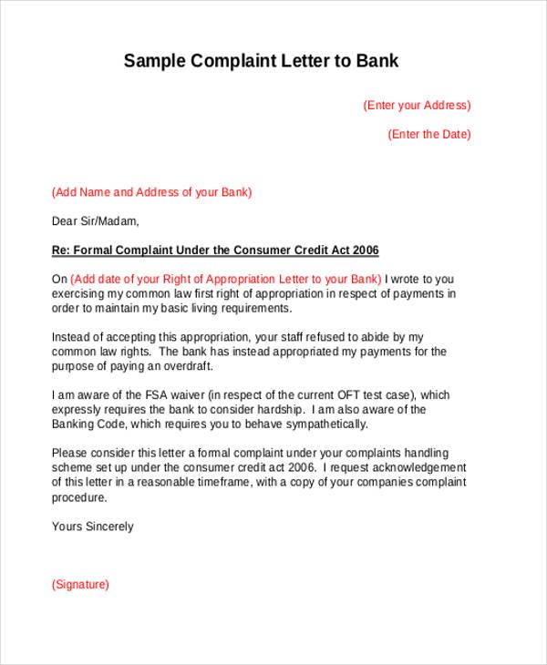complaint letters - Ozilalmanoof - Complaint Letters