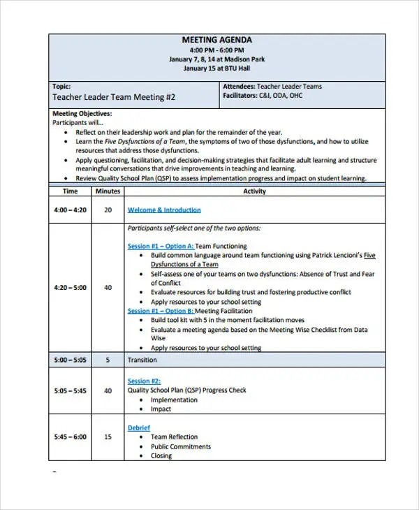 agenda structure template - Minimfagency - outlook meeting agenda template