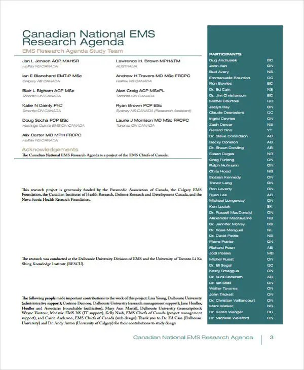 Research Agenda Templates - 12+ Free Word, PDF Format Download - sample research agenda