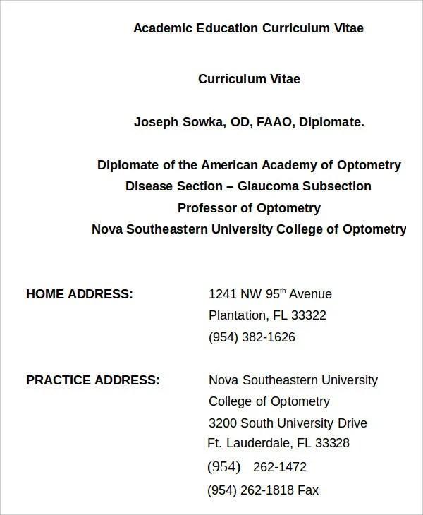 33+ Curriculum Vitae Samples - PDF, DOC Free  Premium Templates