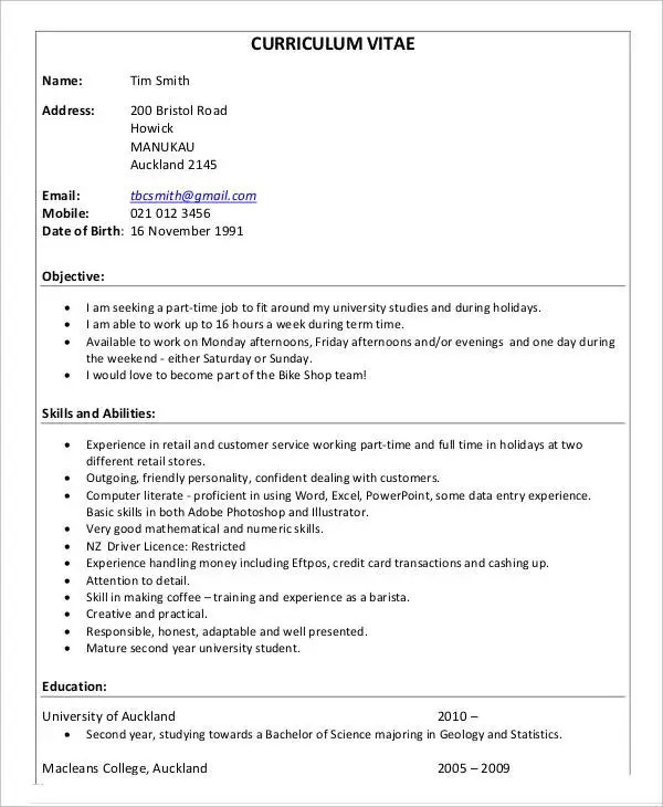 33+ Curriculum Vitae Samples - PDF, DOC Free  Premium Templates - curriculum vitea sample
