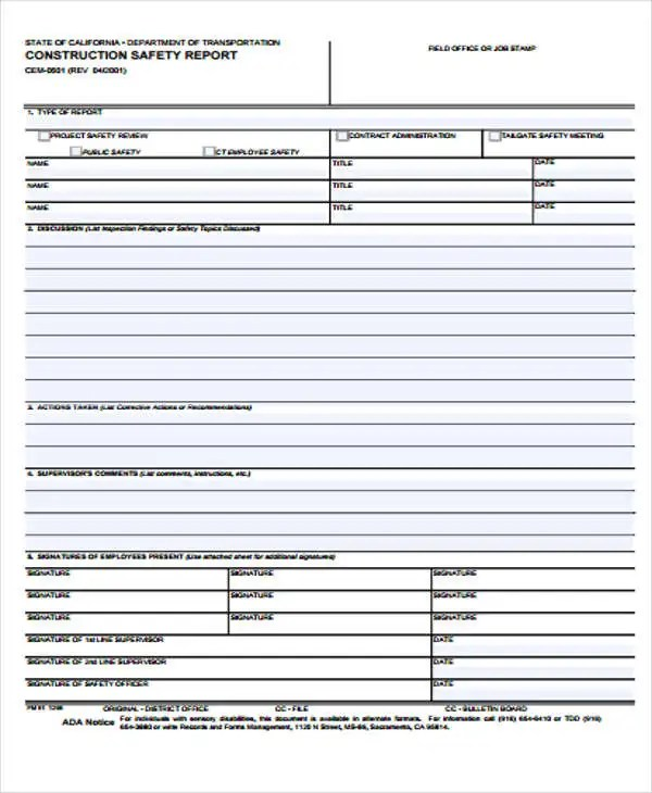 Safety Report Templates - 13+ Free Sample, Example Format Download