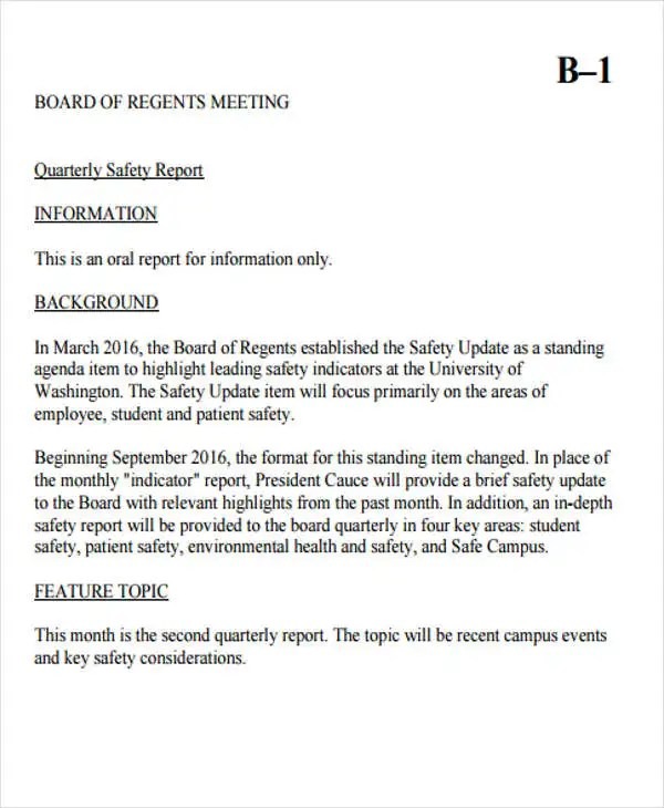... Safety Report Templates   10+ Free Sample, Example Format Download   Safety  Report Sample ...