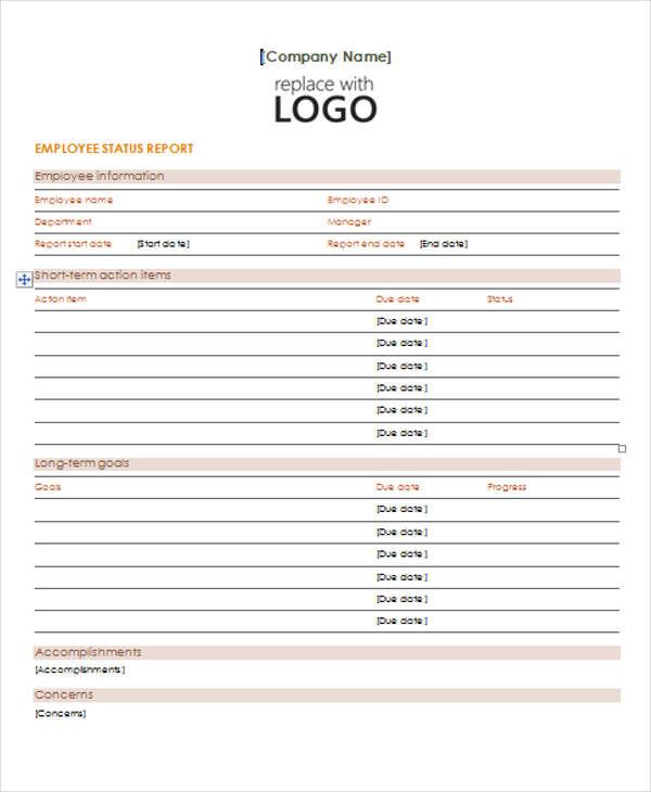 11+ Sample Status Report Templates Free  Premium Templates