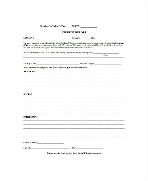 Evaluation Report Templates - 9+ Free Sample, Example Format - sample student evaluation forms