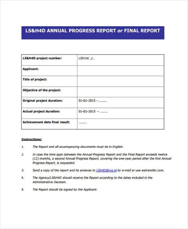 13+ Progress Report Templates - Free PDF, Apple Pages, Google Docs