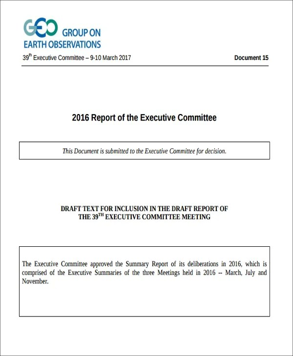 Executive Summary Of A Report Example 11 sample feasibility – Executive Summary Report Template