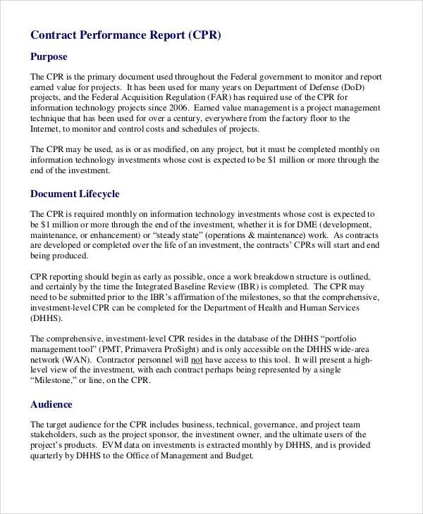 Performance Report Templates - 16+ Free Sample, Example Format - performance report template