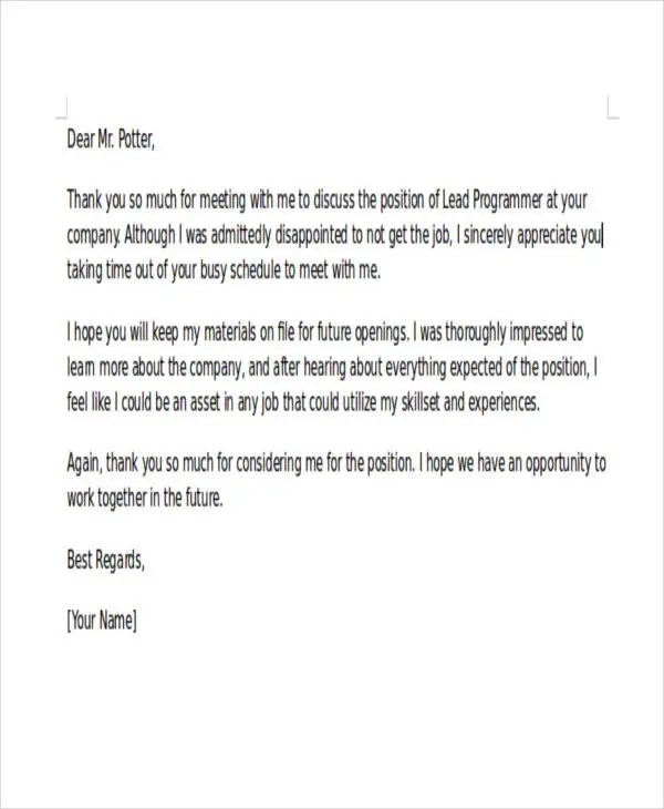 37+ Rejection Letter Sample Free  Premium Templates