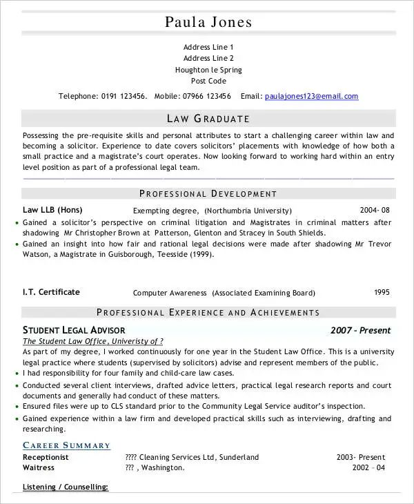 it graduate resume sample doc