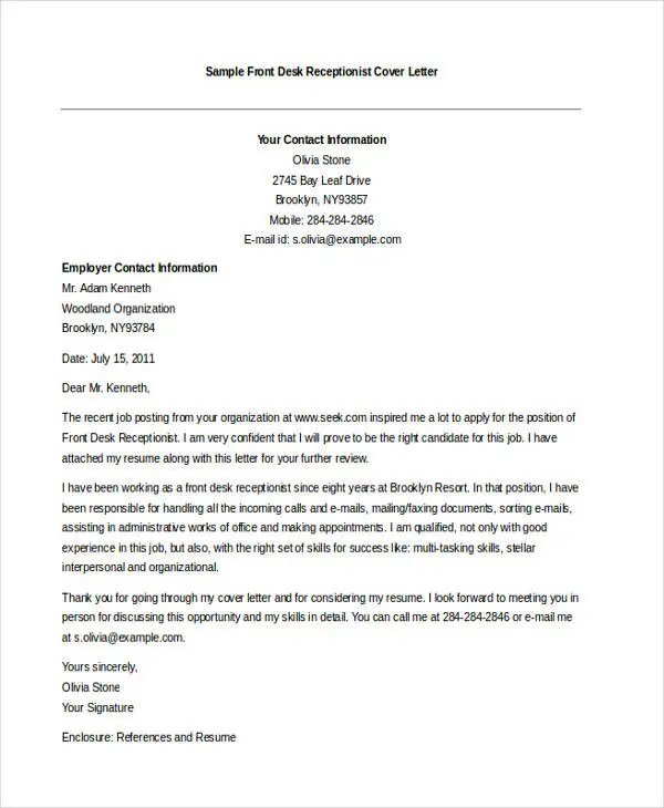 46+ Free Cover Letter Samples Free  Premium Templates - i have attached my resume