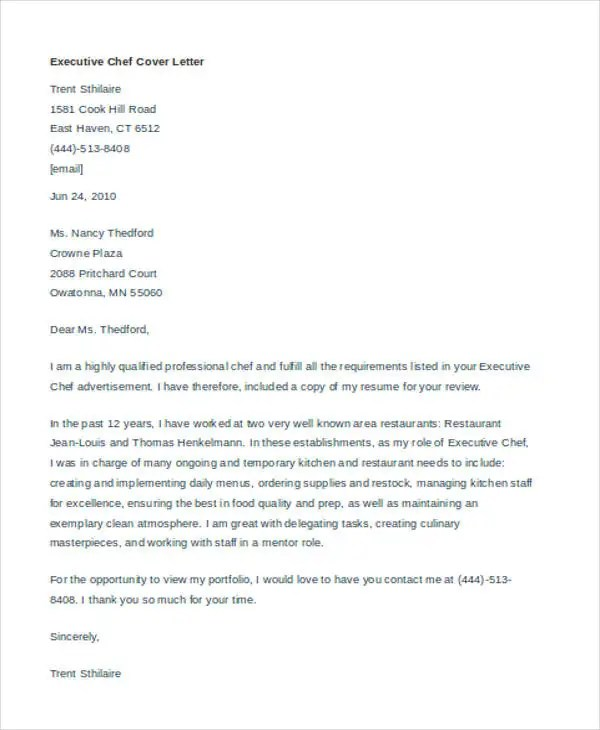chef manager cover letter | node2001-cvresume.paasprovider.com