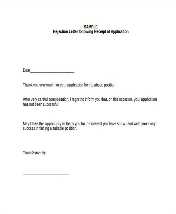 17+ Job Refusal Letter Examples - Word, Apple Pages, Google Docs